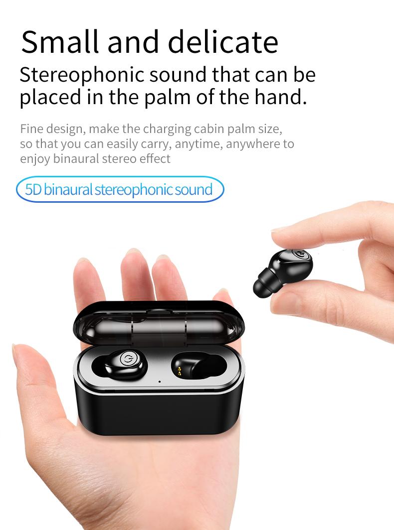Cuffia impermeabile TWS Wireless Bluetooh 5.0 Auricolare con microfono Auricolari Sportivi