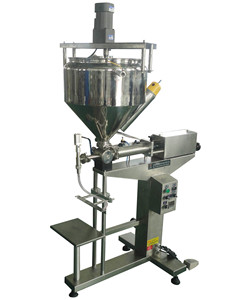 semi automatic manual chocolate mixing and heating filling machine