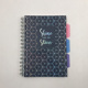 hot selling custom PP&PVC&PET material A5 spiral mini notebook for school/office