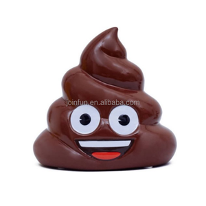 custom make poo emoji Coin piggy Bank kids, plastic unbreakable toy poop kids piggy bank