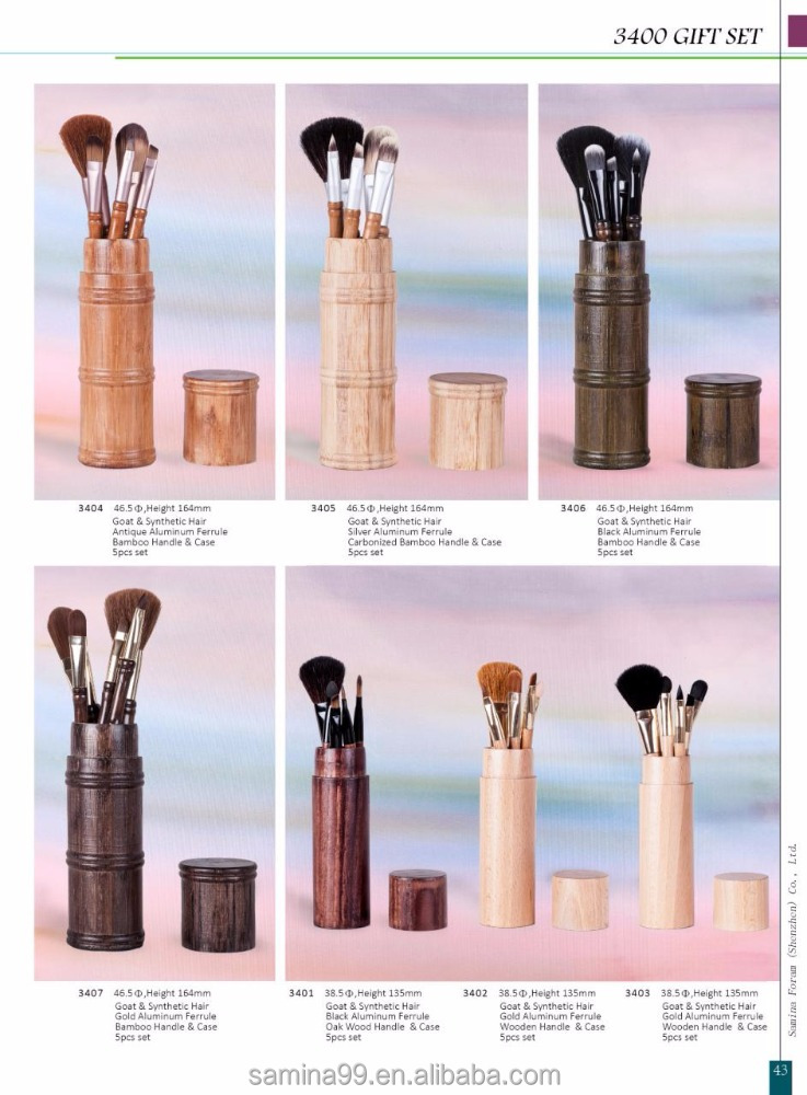 High quality gift make up cosmetic private label cosmetics makeup cut brush set