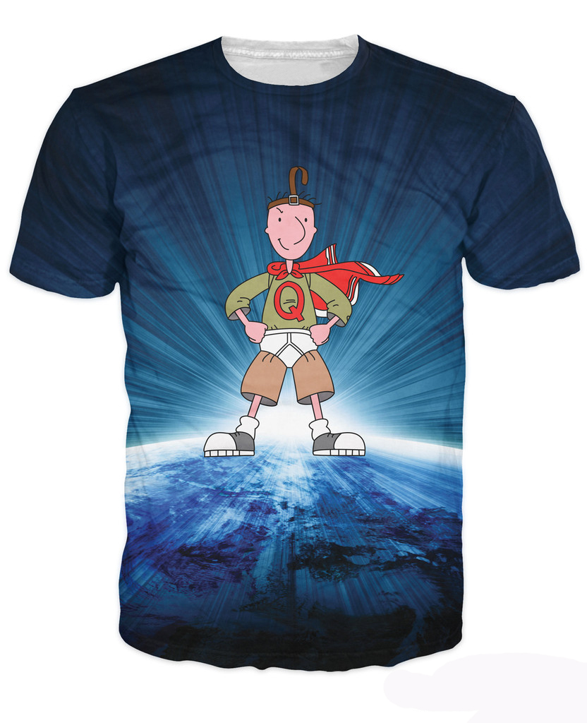 43ca2f627 Get Quotations · Quailman T-Shirt valiant superhero awkward cartoon underdog  Doug Funnie 3d Print t shirt Women