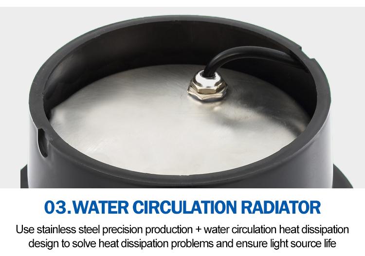 Ayarlanabilir Alüminyum ip65 Su Geçirmez Yuvarlak 3 W 5 w 6 w 7 w 9 w Rgb Açık bahçe ledi Yeraltı Işık