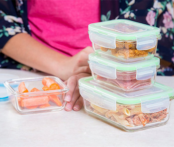 Glass Food Storage Containers With Locking Lids   Perfect For Storing Food  And Packing Lunch