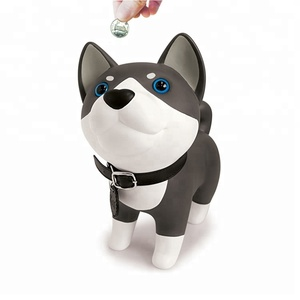 Hot Selling Custom Cute Plastic Dog Shape Coin Bank Toys for Child Gift