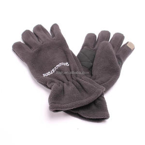 Fashion warm Adult outdoor stock fleece hat scarf touch gloves sets