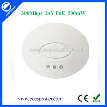 300Mbps Mini Cost Efficient Ceiling Wireless Access Point(AP) wifi repeater 24V passive PoE 500mW