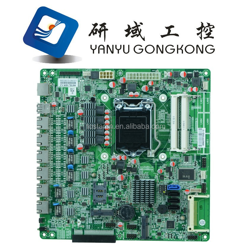 China factory Intel B75 LGA1155 core i3 i5 i7 processor networking Router nic ethernet ports mini-itx motherboard for 6 lan