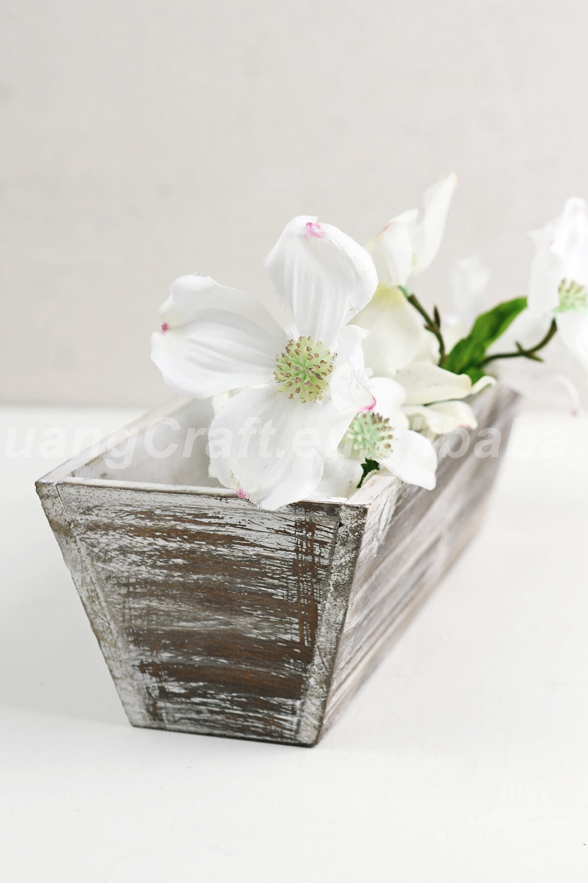 Whitewashed Tapered 4 X 12 Planter Boxes Wood,Gift Box,Home Decor ...