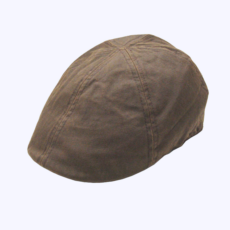 Old Style Brown Irish Waxed Cotton Flat Ivy Caps Hats For