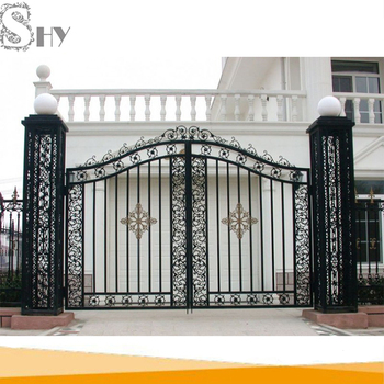 . Modern Wrought Iron Main Gate Design   Buy Main Gate Design Wrought Iron  Gate Iron Gate Design Product on Alibaba com