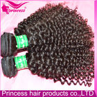Can Be Washed And Combed Wholesale Unprocessed Jet 1b Black 100% Virgin Human Curly Regular Wave Hair Weave
