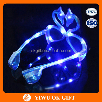 5b157f2e5dd4 Led swan shape light up glasses flashing sunglasses for party and holiday