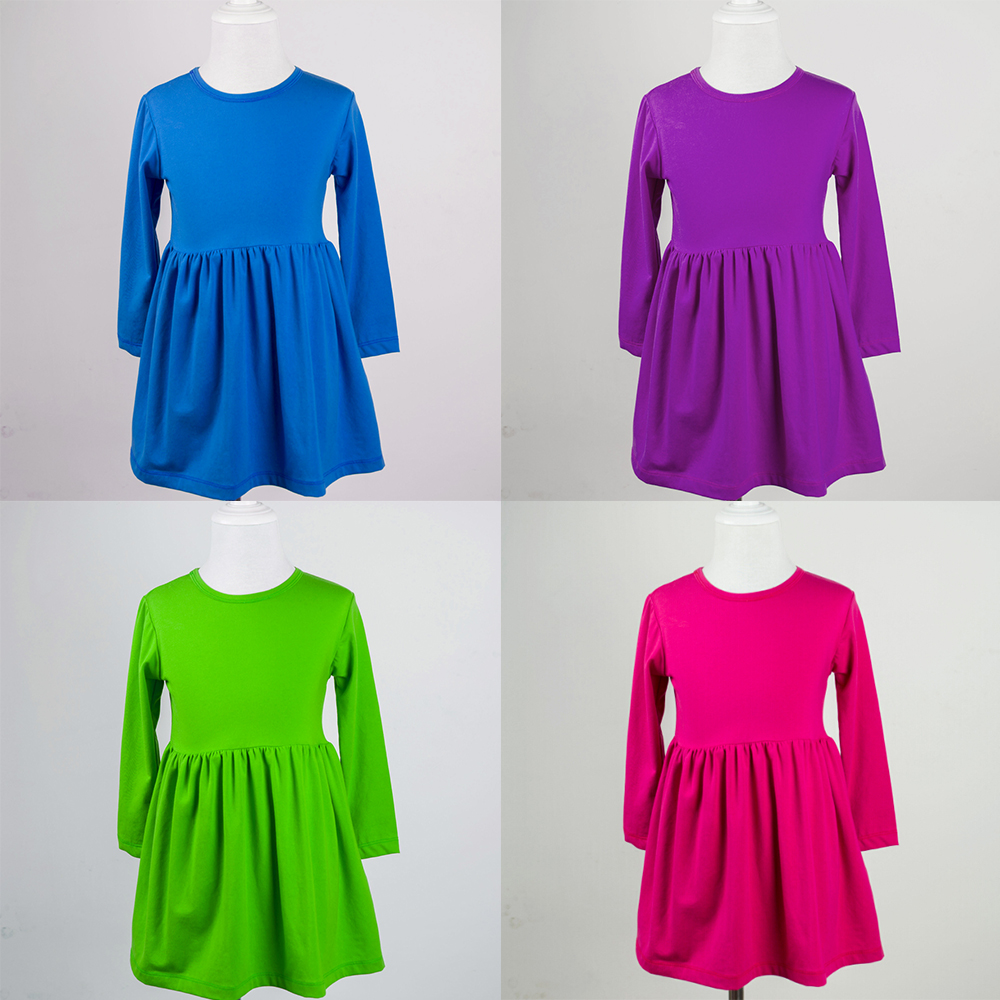 Simple Cotton Frocks Designs Solid Baby Dress Pictures