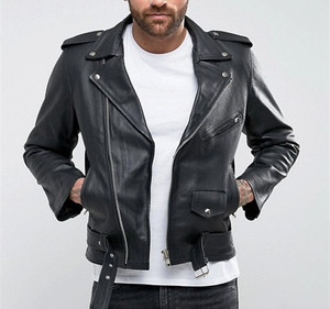 High quality vintage motorcycle pure leather jackets for men