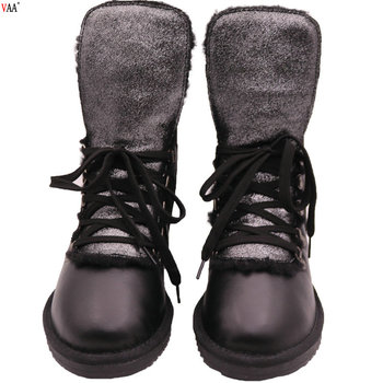 AN-CF-123 Free Samples Genuine Leather Outsole Korean Snow Boots,Men Boots For Men Winter Snow Boots Warm Fur Plush