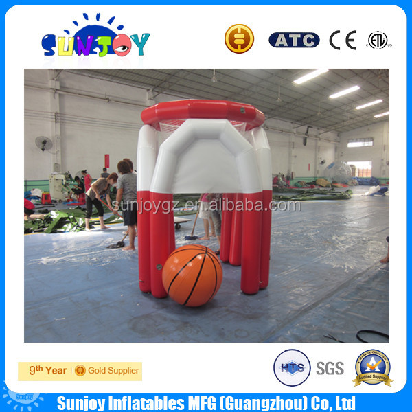 hot sale giant inflatale basketball hoop, inflatable basketball shooting hoop for sale