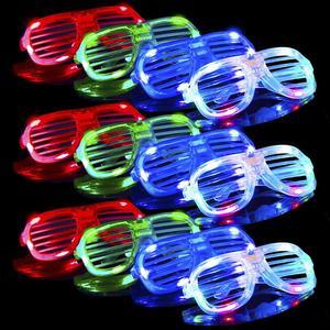 3888c94e0f91 Bulk Light Up Rave Glasses Party Supplies Favors Glow in The Dark LED  Glasses
