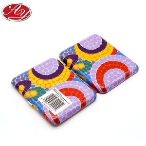 Fashionable Design Flower Pattern Carry-on Small Wallet Tin Box