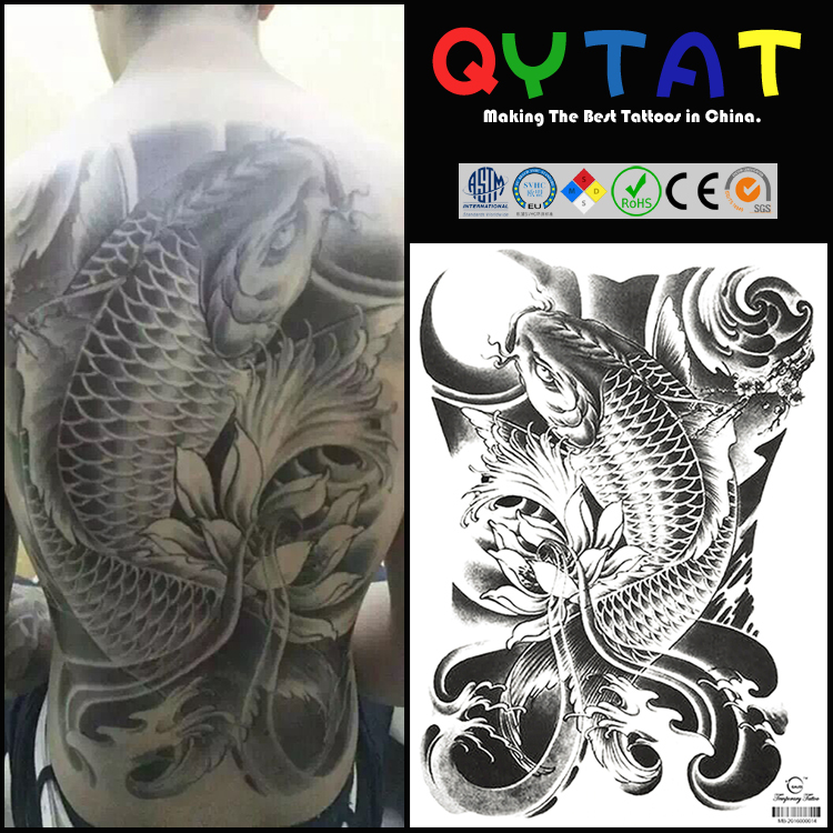 Cool Large Size Temporary Tattoo Mens Full Back Tattoo Sticker Buy Back Tattoo Stickerfull Back Tattoo Stickertemporary Tattoos For Full Back
