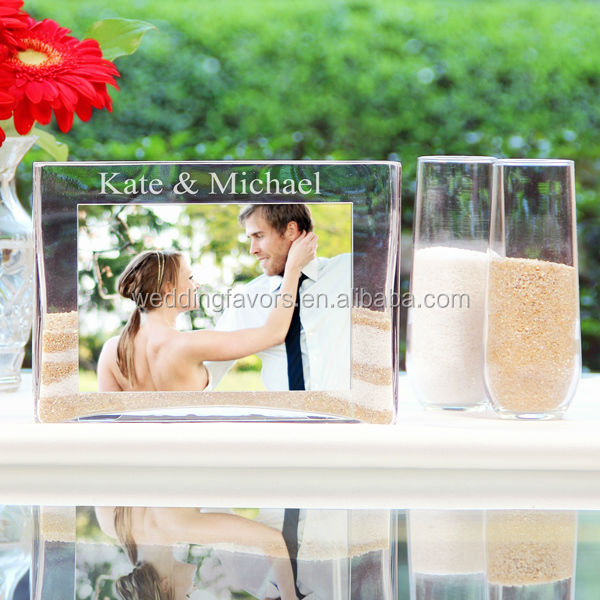 Glass Sand Ceremony Picture Frame And Vase Kit Buy Wedding Sand