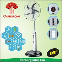 "2016 new model 18"" remote control rechargeable fan with timer 5 speed"