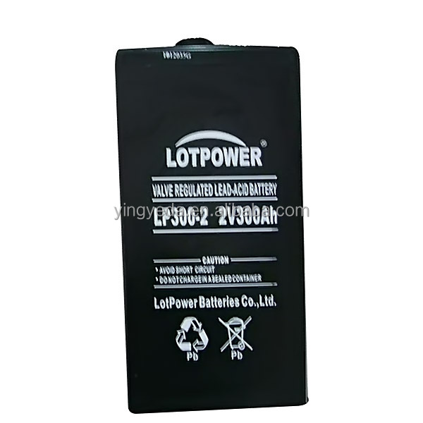 VRLA UPS battery 2v 300ah rechargeable deep cycle battery 2v 300ah wind turbine 2v 300ah