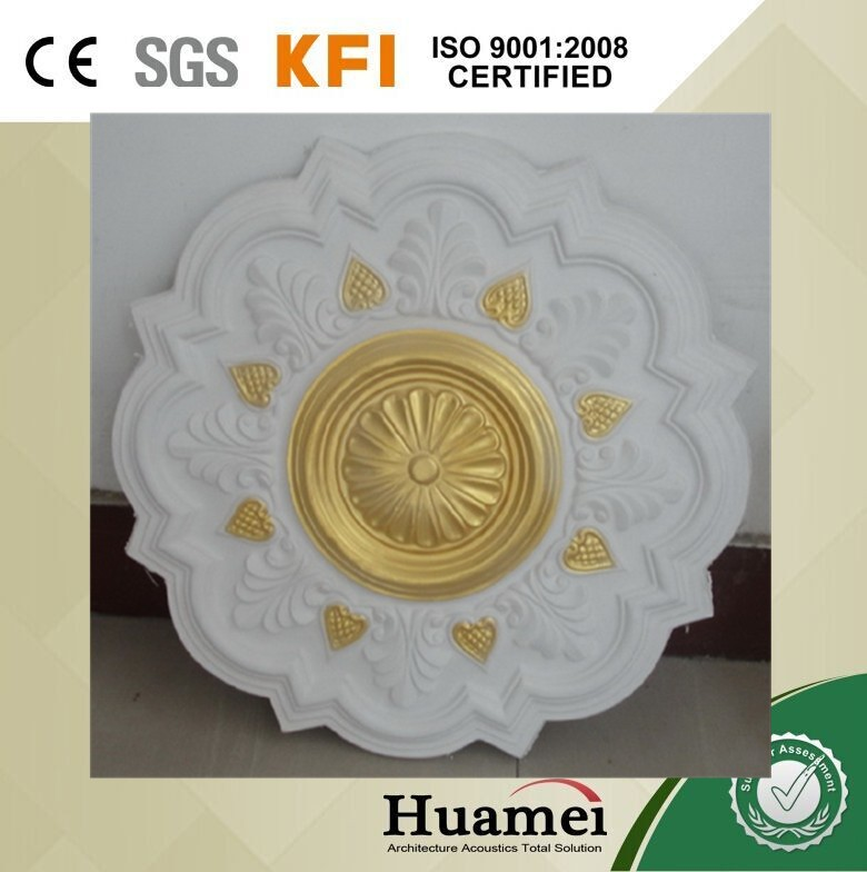Classic Designs Ceiling Center Panel Rose Prefabricated Gypsum Lamp Disk Medallion