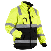high quality safety working jacket reflective men jacket in winter wholesale polyester safety jacket
