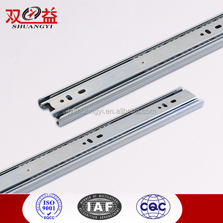 Wholesale 3 folded steel ball bearing slides for kitchen cabinet drawer