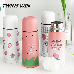 Thailand 2018 Factory price 350ml fruit design eco friendly stainless steel water bottle Wholesale Stocked