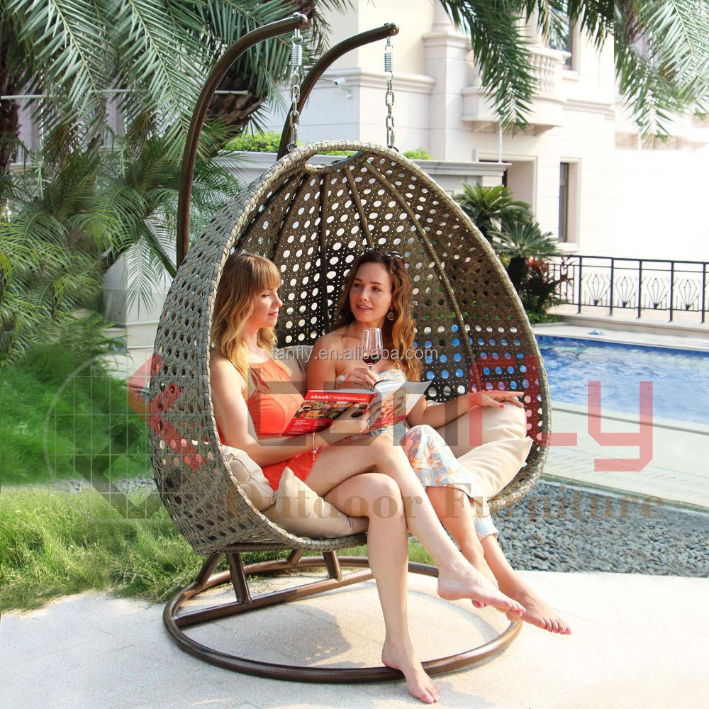 Remarkable Two Person Outdoor Garden Rattan Hanging Double Chair Swing Buy Outdoor Swing Outdoor Swing Chair Outdoor Chair Swing Product On Alibaba Com Machost Co Dining Chair Design Ideas Machostcouk