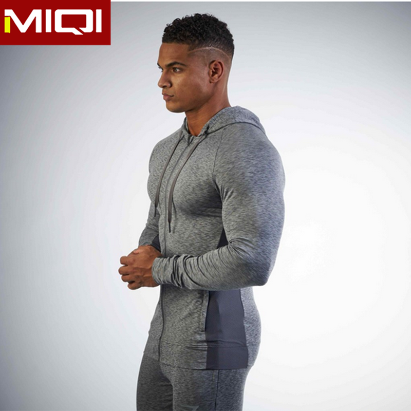 Hot sale fitness clothing men hoodie custom logo gym clothing men 2017