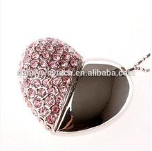 2017 hot style usb flash drive for girls tag heart shaped