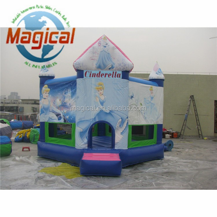 Cinderella inflatable bouncy castle inflatable jumper inflatable bouncer