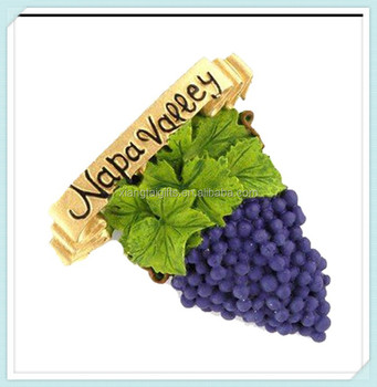 napa valley city grapes poly magnet buy polyresin city magnets