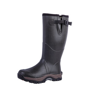 men hunting and fishing neoprene rubber boots 66608N