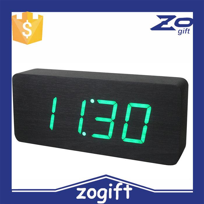 Zogift Cheap Bulk Christmas Gifts Wood Carving Mini Digital Clock ...