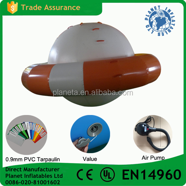 Commercial Grade Inflatable Disco Boat Water Toy For Sale