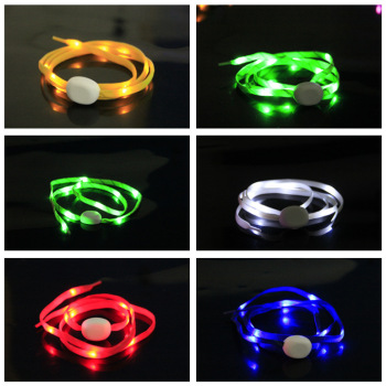 LED Flash Luminous Light Up Glow Strap Shoelace Shoe Laces Party Disco Props