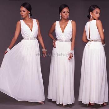 eee1ec572 NS1440 al por mayor mujeres moda blanco dama de honor vestido de fiesta  vestidos elegantes