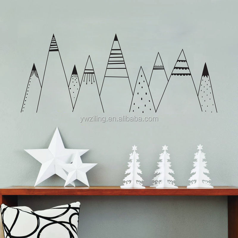 YA765 Wall Art Decal Mountain Woodland Nursery Tribal Wall Decals Nordic Style Home Decoration Vinyl Wall Sticker