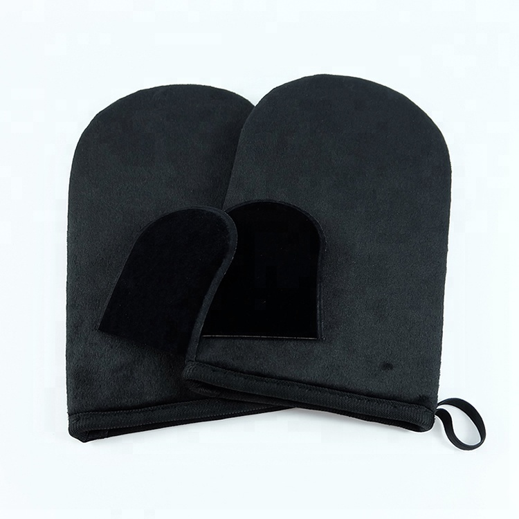 Set of 4 Premium Self Tanning Applicator Mitts, Brown;black;pink;green;customized color available