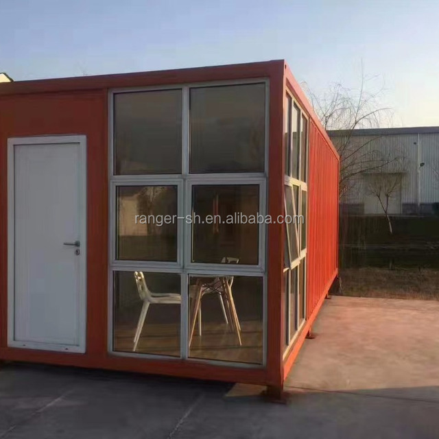 Container house with cheap construction materials