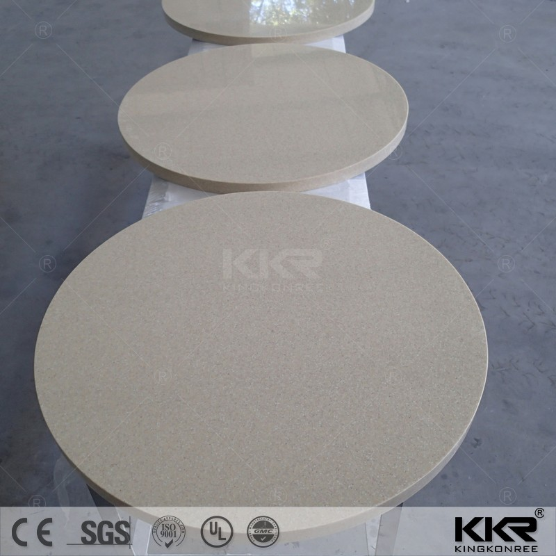 Restaurant Artificial stone cultured marble round table top