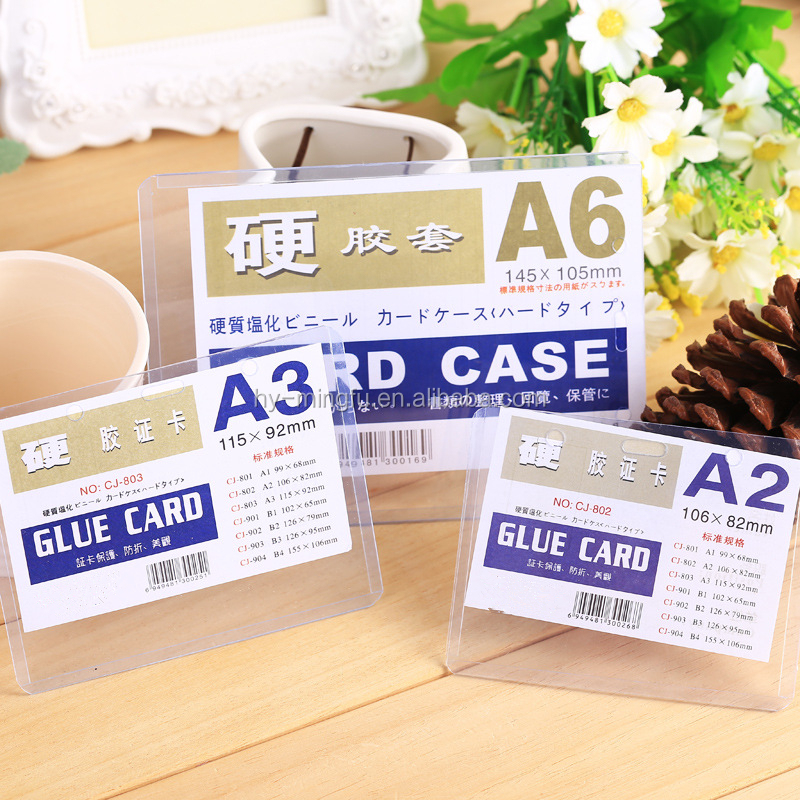 different size hard plastic PVC card case/ card holder