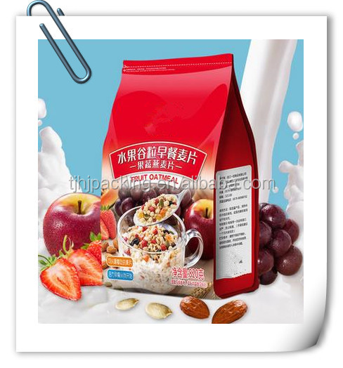 oats stand heat seal packaging bag