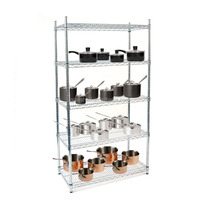 Professional Manufacture NSF & ISO Approved Kitchen Chrome Metal Mesh Shelf