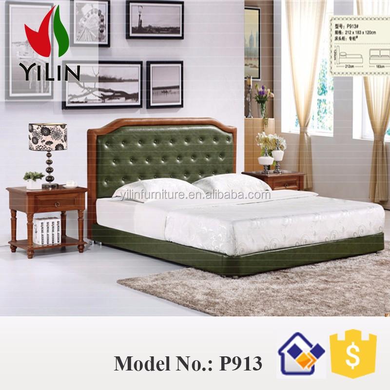 Venta al por mayor madera de teca diseños cama doble-Compre online ...
