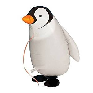 TOOGOO(R)Walking Pet Balloon Animal Airwalker Foil Balloon Helium Kids Children Fun Party Decors Penguin